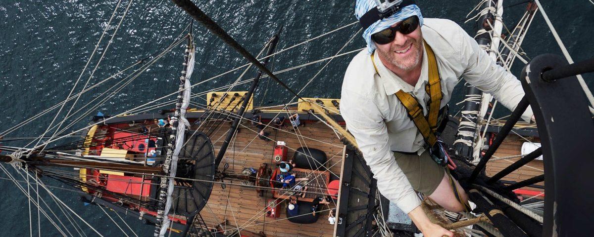 HMB Endeavour, photo taken from mast